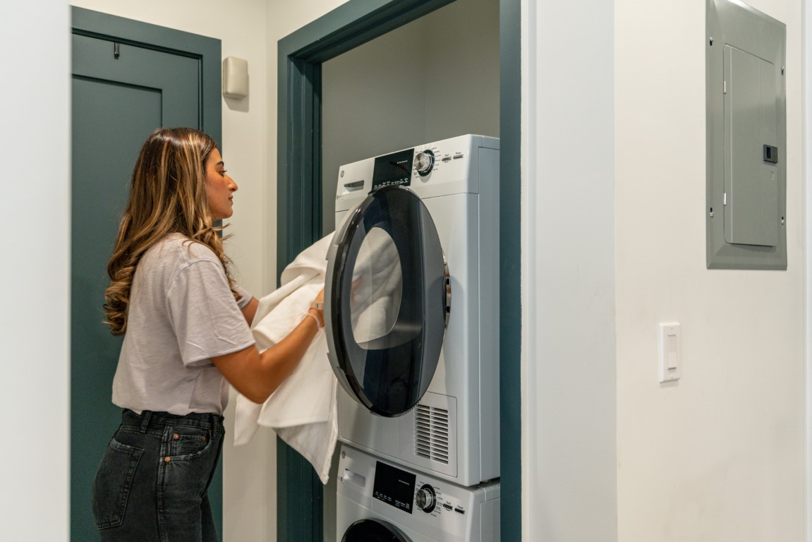 Laundry in building (paid)